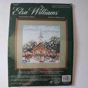 UNDAMPENED SPIRITS Elsa Williams Cross Stitch NEW